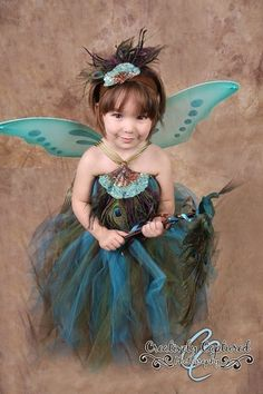 Peacock Tutu Set by enchantedfairyco on Etsy, $200.00 // THIS IS SOOOO CUTE!!! But it's too expensive :( I'd rather imitate this idea.