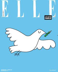 Découvrez la Une exceptionnelle du magazine Elle qui sera demain en kiosque après les attentats qui ont touché la France