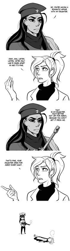 Overwatch- Ana and Mercy comic.