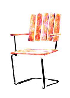Svenssons möbler - Kajsa – Illustration och Grafisk form