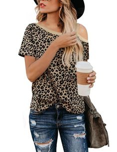 Shop a great selection of Womens Leopard Print Tops Casual Cute Shirts Basic Long Sleeve Soft Loose Blouse. Find new offer and Similar products for Womens Leopard Print Tops Casual Cute Shirts Basic Long Sleeve Soft Loose Blouse. Casual T Shirts, Cute Shirts, Casual Tops, Leopard Print Shorts, Leopard Blouse, Leopard Top, Leopard Prints, Cheetah Print, Leopard Print Outfits