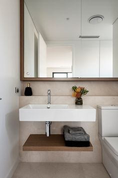 Coastal inspired finishes in a bathroom design by Urbane Projects. Stone Flooring, Coastal, Inspired, Bathroom, Interior, Projects, Inspiration, Furniture, Design