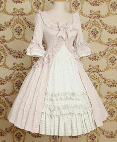 gothic lolita dress half sleeves~ladies lofty~attractive handsome custome~clear