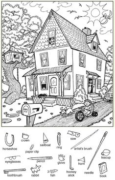 Hidden Picture Games, Hidden Picture Puzzles, Hidden Pics, English Activities, Preschool Activities, Hidden Pictures Printables, Highlights Hidden Pictures, Hidden Objects, Activity Sheets