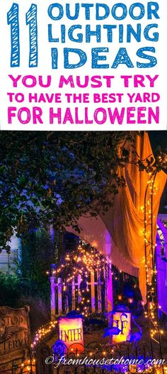 7 Spectacular Ways To Create Spooky Halloween Outdoor Lighting - scary halloween outdoor decoration ideas