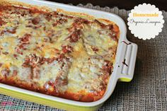 Learn how to make this Homemade Organic Lasagna at home and save on organic's with coupons.