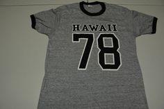 vtg 1978 Hawaii t shirt Gray Medium/Large