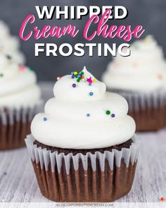 Fluffy Cream Cheese Frosting, Cream Cheese Cupcakes, Whipped Cream Cheese Frosting, Low Fat Cream Cheese, Fluffy Icing, Homemade Cream Cheese Icing, Cupcake Icing Recipes, Cream Cheese Frosting Recipe For Cupcakes, Best Frosting For Cupcakes