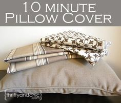 Sew a pillow cover in 10 minutes using this technique!