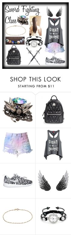 """Sword Fighting Class"" by enchantedarticgem ❤ liked on Polyvore featuring Gasoline Glamour, MCM, Cotton Candy, H&M, AS29, Barefootsies and Bling Jewelry"