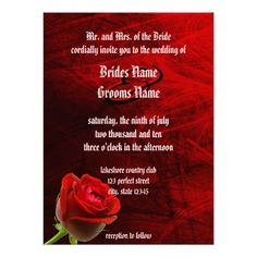 DealsGothic Rose Invitation Personalized Invitesyou will get best price offer lowest prices or diccount coupone