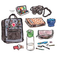 a little illustration of what's in my kanken!
