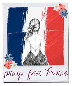 """#prayforparis"" by fashion-motavator ❤ liked on Polyvore featuring art and prayforparis"