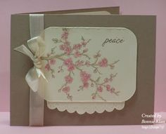 Stampin' Up! ... handmade card from Stamping with Klass: Spring Branch ... like the look of kraft base card with vanilla ... cherry blossoms main image ... perfect bow on ribbon wrap ... sweet look ...