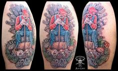 Tattoos by Alessandro Conti, via Behance
