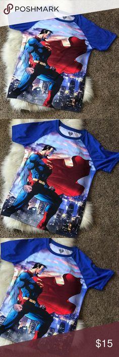 SUPERMAN TEE SMALL MENS/ Kids Super cute SUPERMAN TEE.  Size: SMALL  100% Polyester  Brand new- NO TAGS DC COMICS Shirts & Tops Tees - Short Sleeve