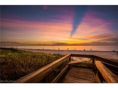 Sunsets nightly.  Vanderbilt Beach in Naples, Florida