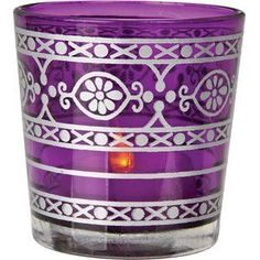 purple candle holder
