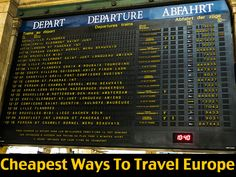 The Cheapest Ways To Travel Europe by Bus, Train and Aeroplane.   http://www.theaussienomad.com/travel-tips/cheapest-ways-to-travel-europe/