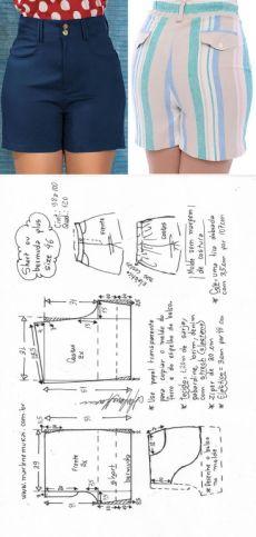 Dress Making Patterns, Pattern Making, Bermuda Short, Bermuda Plus Size, Pattern Drafting, Skirt Pants, Sewing Patterns, Casual Shorts, Womens Fashion