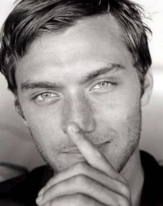 Jude Law. Best pic of him I've ever seen? Considering I'm going into cardiac arrest, I'd say so.