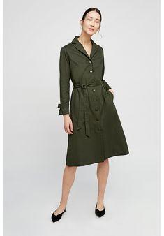 985640731d Dresses - Tia Coat Dress in Khaki Khaki Dress