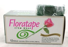 FloralTape:  Excellent stretch means you use less tape!  Fine textured and smooth surface creates a natural appearance and high quality