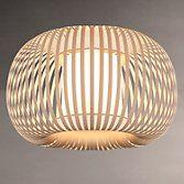 John Lewis Harmony Ribbon Semi Flush Ceiling Light, Natural at John Lewis