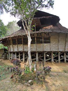 A Traditional house in remote Fulölö village. North Nias Regency, Nias Island, Indonesia. Photo by Bjorn Svensson. www.northniastourism.com