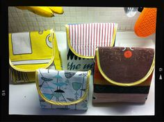 Clever idea from a gal named Georgeina: repurpose old or no-longer-used tea towels into lunch bags! #sewing