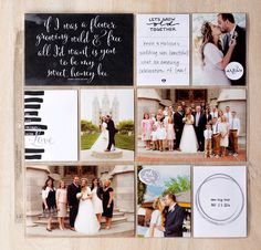Stampin' Up! - Scrapbooking and Design Software - Tools - Kits Project Life Scrapbook, Project Life Album, Project Life Layouts, Wedding Scrapbook Pages, Birthday Scrapbook, Project Life Wedding, Wedding Planning List, Planners, The Wedding Singer