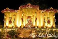 Indian Wedding Decorations, decoration of wedding stage . Wedding Mehndi, Wedding Mandap, Desi Wedding, Wedding Stuff, Wedding Photos, Wedding Dresses, India Wedding Decorations, Reception Decorations, Flower Decorations