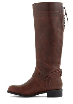 Steadfast Style Boot in Brown   Mod Retro Vintage Boots   ModCloth.com