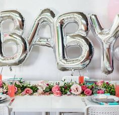 Letter Balloon Ideas – 'BABY' Mylar Balloon | Statement Balloons | Letter Balloons | Balloon Sayings | Balloon Quotes | Party D�cor Ideas | Party Backdrop | Photo Prop Ideas | Foil Balloon | Banners | Garlands | DIY | Baby Welcome | Baby Shower