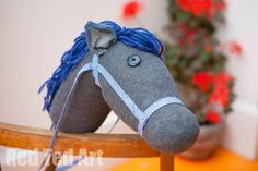 I have been pondering on how to make an easy Stick Horse (or Hobby Horse in some parts of the world) for a while. Ever since, we had the Sock Bunny visit, I have been wanting to make a Sock Stick Horse, and here we have it! I have made it for Red Ted this …