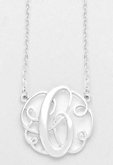Bianca pratt womens initial t charm necklace 350 liked on monogram initial necklace 15 letter c pendant silver chain aloadofball Gallery