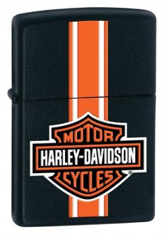 Zippo HarleyDavidson Stripes Lighter Black Matte * Click image to review more details.