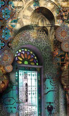 Very Artistic Entry Door