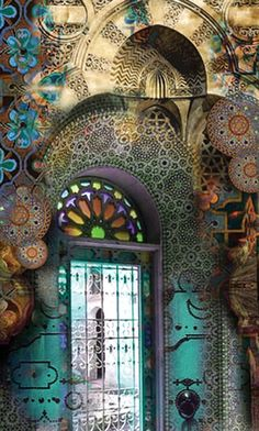 Very Artistic Entry Door