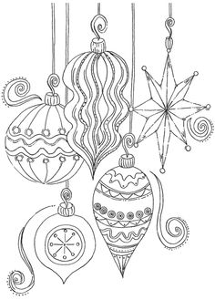 CHRISTMAS ORNAMENTS (embroidery pattern)