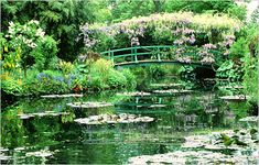 Monet's famous water lily pond @ Giverny, France....I would totally go to Monet's house again.  AMAZING.