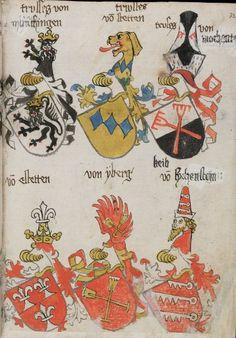 Wappenbuch des St. Galler Abtes Ulrich Rösch Heidelberg 15. Jahrhundert Cod. Sang. 1084 Folio 322