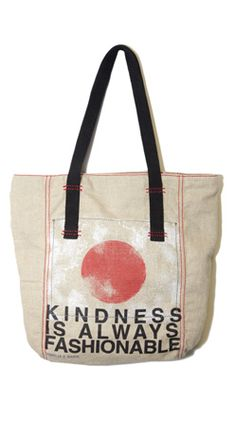 RR Kindness Is Always Fashionable charity tote