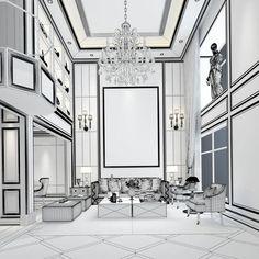 european-style living room design 3d model max 4 European Style, European Fashion, Hallway Inspiration, Store Design, Living Room Designs, Interior Design, Model, Furniture, Black