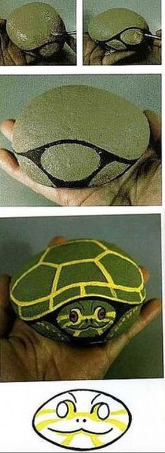 Turtle rock stone painting diy pattern - My Reptiles World 2019 Rock Painting Patterns, Rock Painting Ideas Easy, Rock Painting Designs, Paint Designs, Rock Painting Kids, Art Patterns, Pebble Painting, Pebble Art, Stone Painting