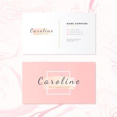 Fashion and beauty name card design vector Free Vector Beauty Business Cards, Elegant Business Cards, Professional Business Cards, Cute Business Cards, Logo Studio, Visiting Card Design, Name Card Design, Name Cards, Design Reference