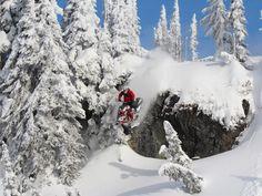Julie Ann Chapman - freestyle snowmobiler and starter of She Shreds Mountain Adventures