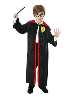 New Kids Boys Girls Wizard Magician Book Week School Fancy Dress Costume Set