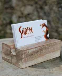 Christmas Gift Ideas: Solid Wooden White Wash Business Card Holder