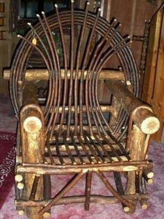Log-Willow Design Chair